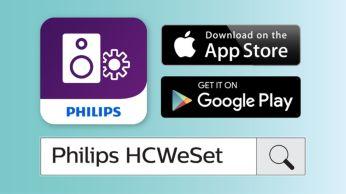 Aplicaţia Philips companion, pentru configurare facilă a reţelei
