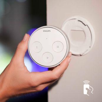Interruptor inalámbrico y mando a distancia en uno
