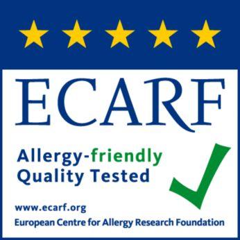 Poate fi utilizat de către persoanele cu alergii, testat de ECARF