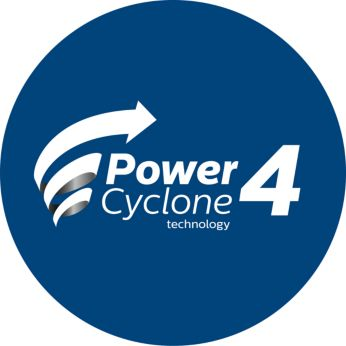 PowerCyclone technology for high vacuum cleaning performance
