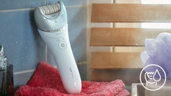 Umed şi uscat, pentru utilizare în cadă sau sub duş