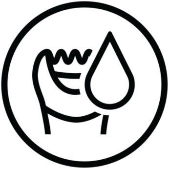 Galite naudoti sausą arba sudrėkinę vonioje ar duše