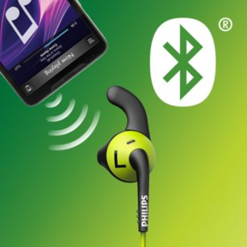Bluetooth wireless connection for tangle-free workouts