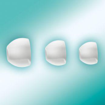 3 種可互換式橡皮耳塞尺寸,提供最佳貼合度