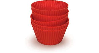 Five Airfryer-quality silicone muffin cups