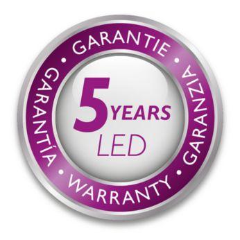 Philips ofrece 5 años de garantía en el módulo LED y el controlador