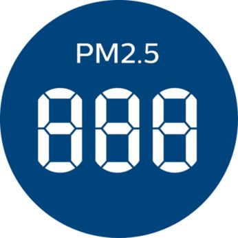 Real time PM2.5 feedback and 4 color AQI light