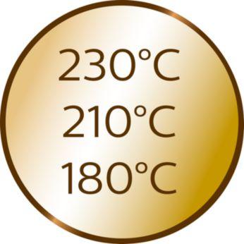 3 setări de căldură şi 3 de timp pentru diferite tipuri de păr