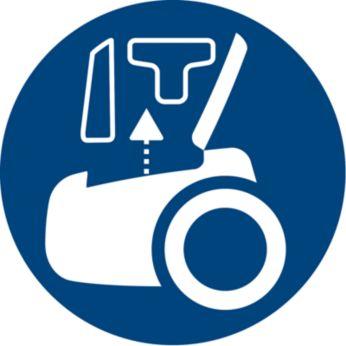 Accesorii incluse pentru o curăţare rapidă şi riguroasă