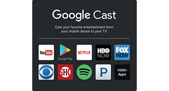 Cast your favorite entertainment from mobile device to TV