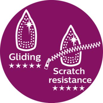 Philips' best gliding and most scratch-resistant soleplate