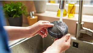 可水洗滤网可确保更持久地提供大风量