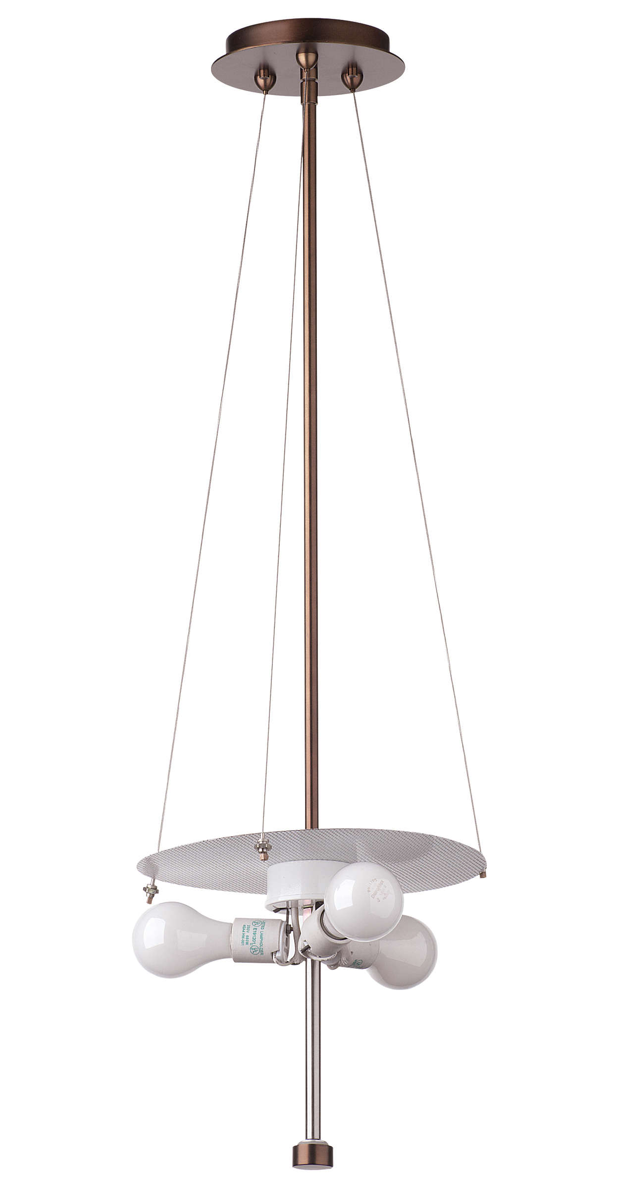 Taylor 3-light Pendant in Merlot Bronze finish