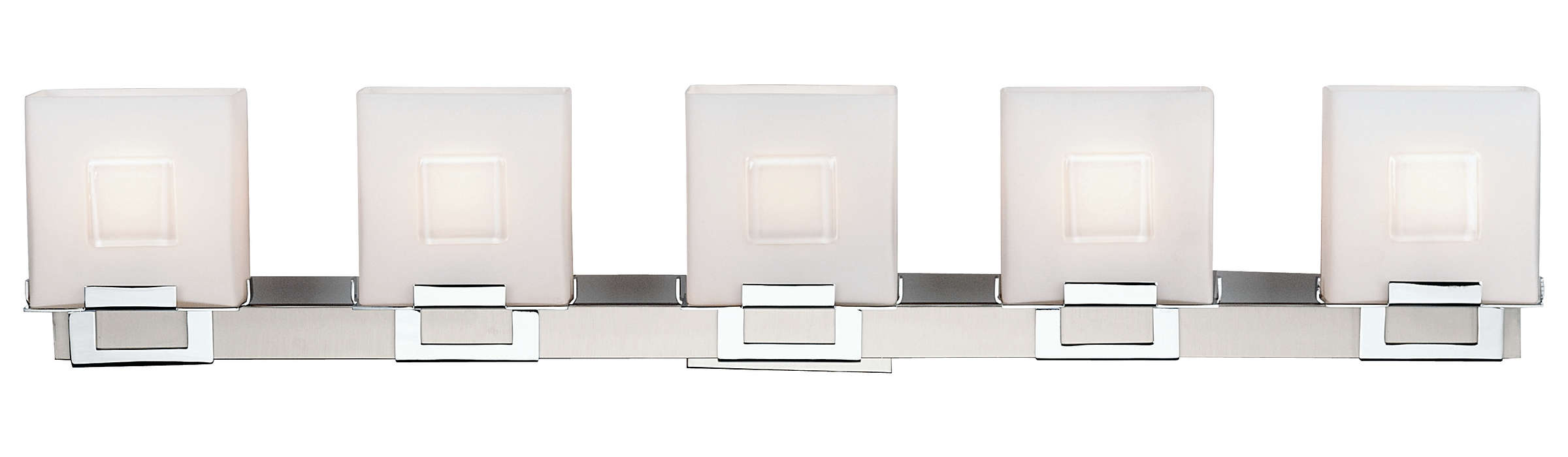 Square 5-light Bath in Satin Nickel finish