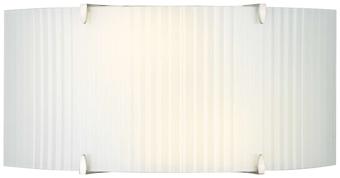 Edge 2-light Wall in Satin Nickel finish