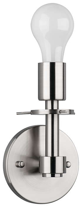 George 1-light Bath in Satin Nickel finish