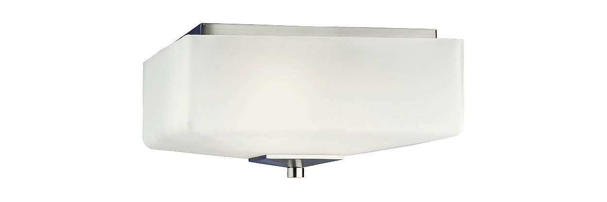Radius 3-light Ceiling in Satin Nickel finish