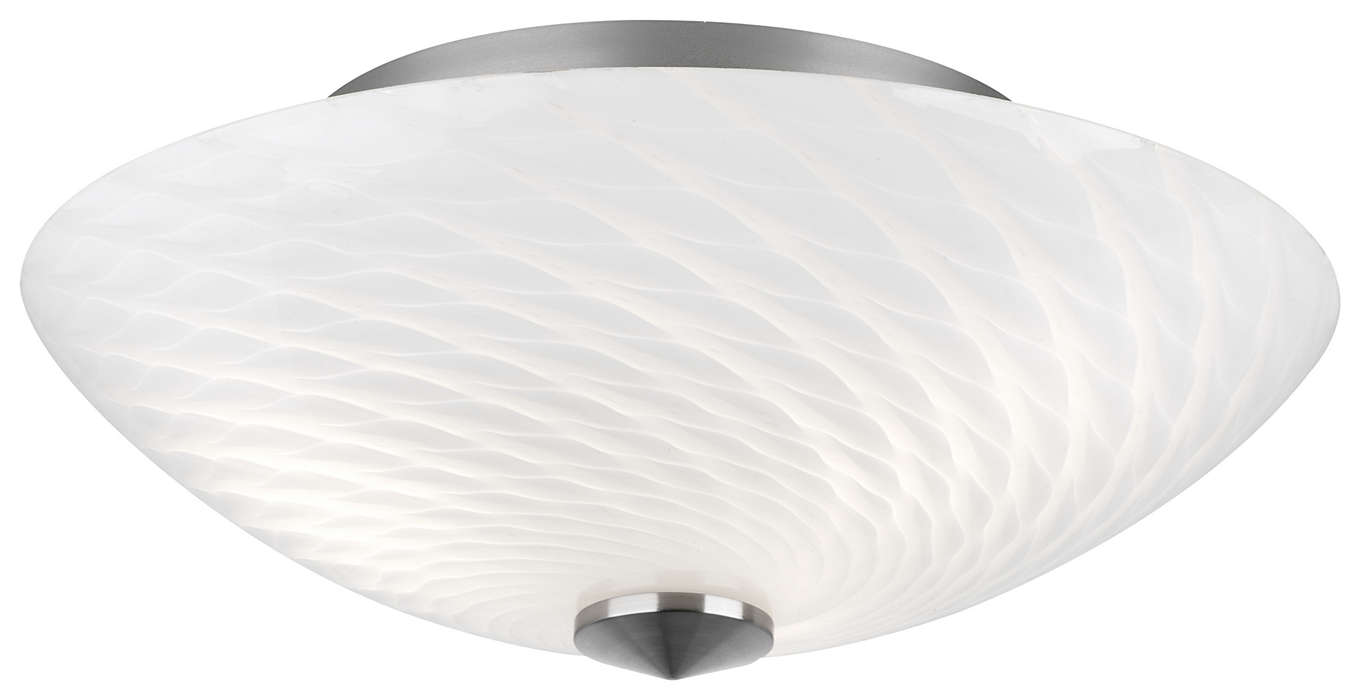 Exhale 3-light Ceiling in Satin Nickel finish