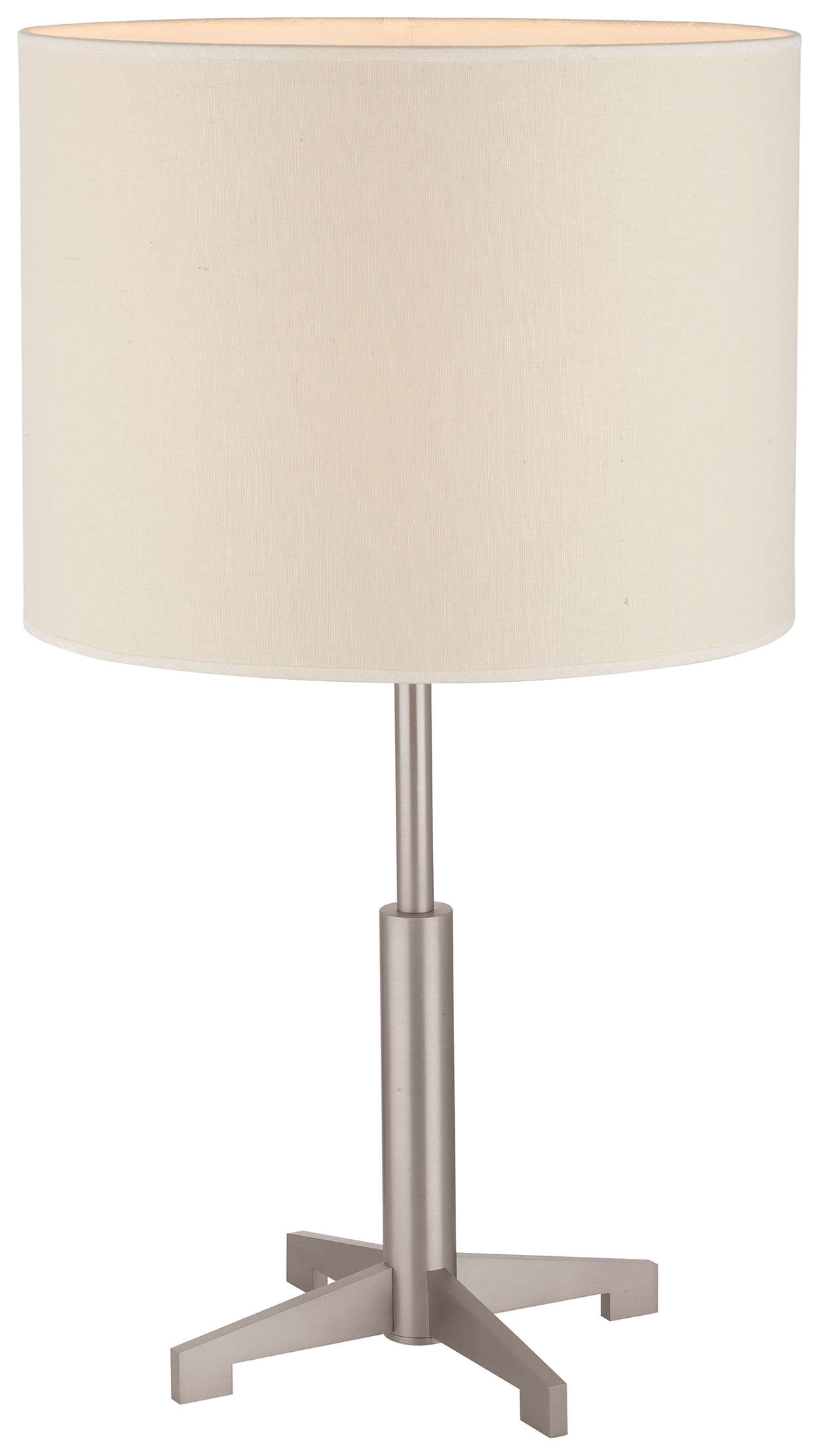 Fisher Island 1-light Table Lamp, Satin Nickel