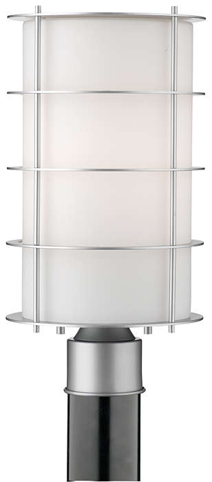 Hollywood Hills 1-light Outdoor Post, Vista Silver