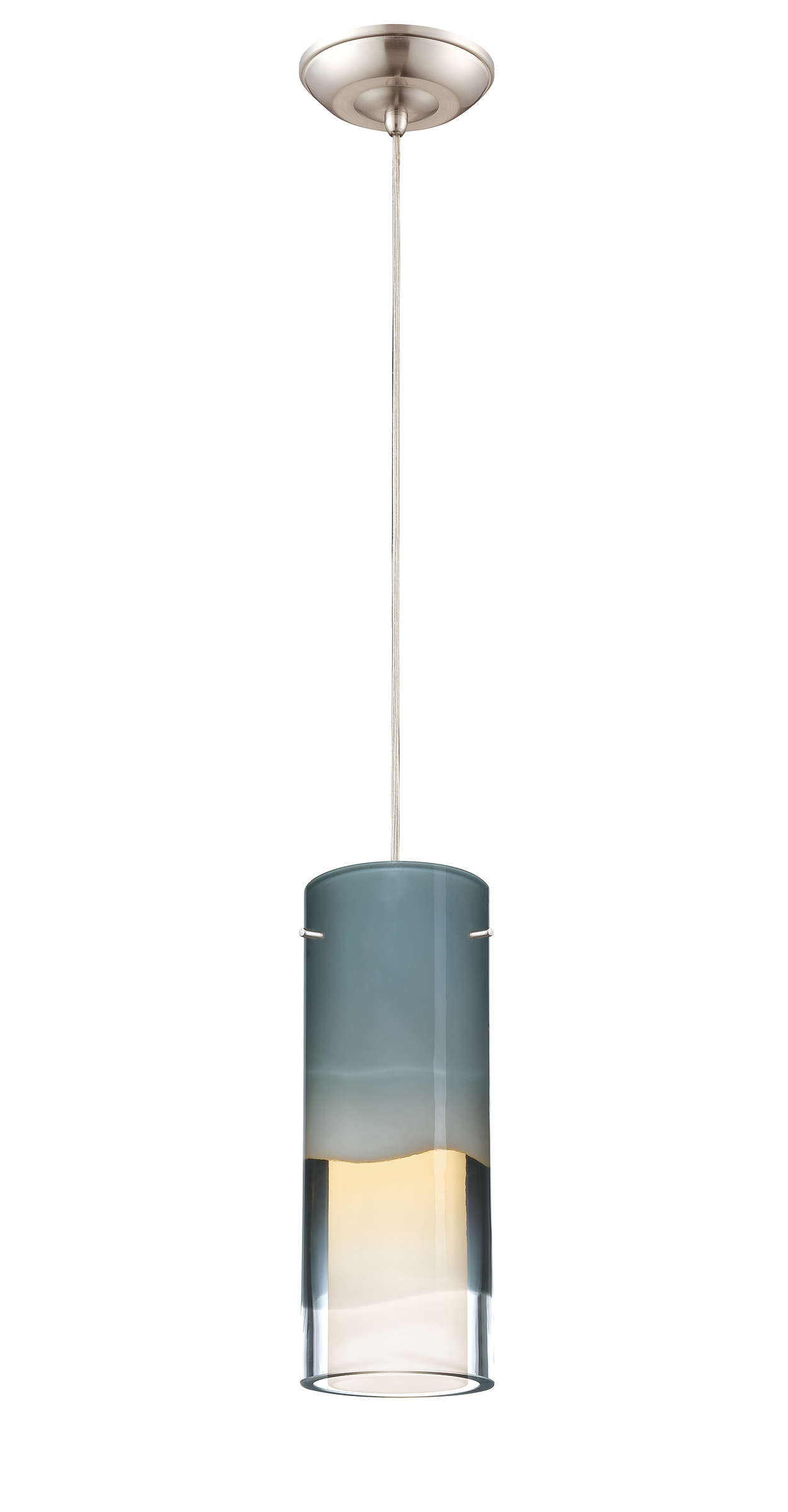 Capri LED pendant in Satin Nickel finish