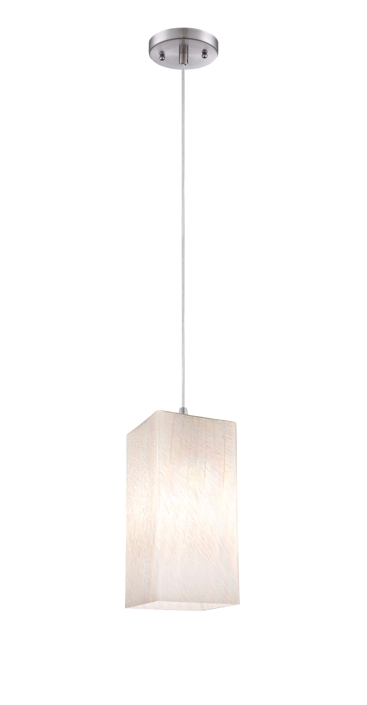 Cotton Candy LED pendant in Satin Nickel finish
