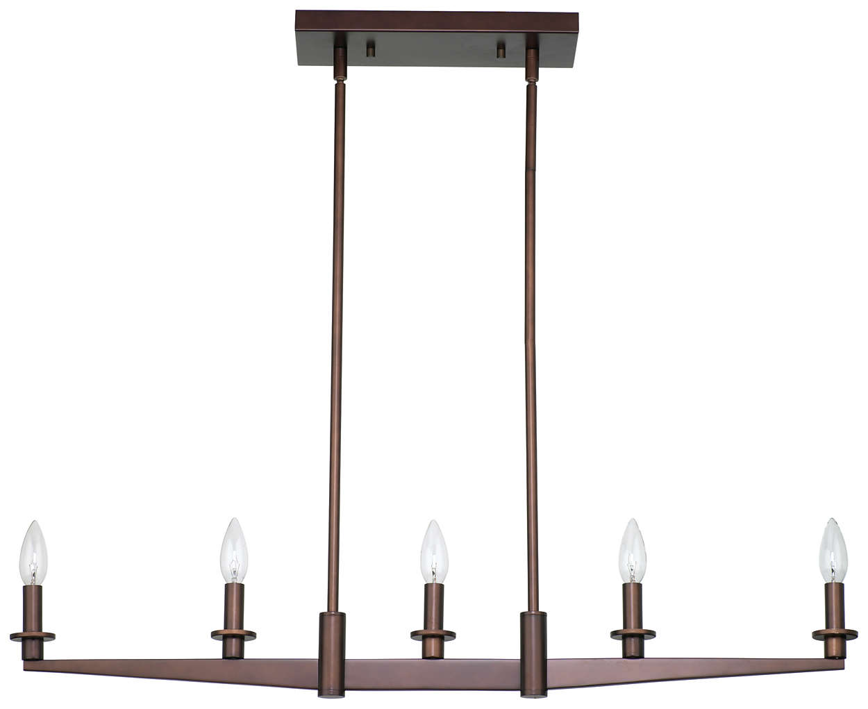 Fisher Island 5-light Pendant, Merlot Bronze