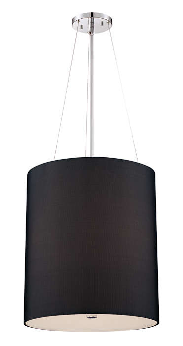 Fishnet 3-light pendant in Chrome finish