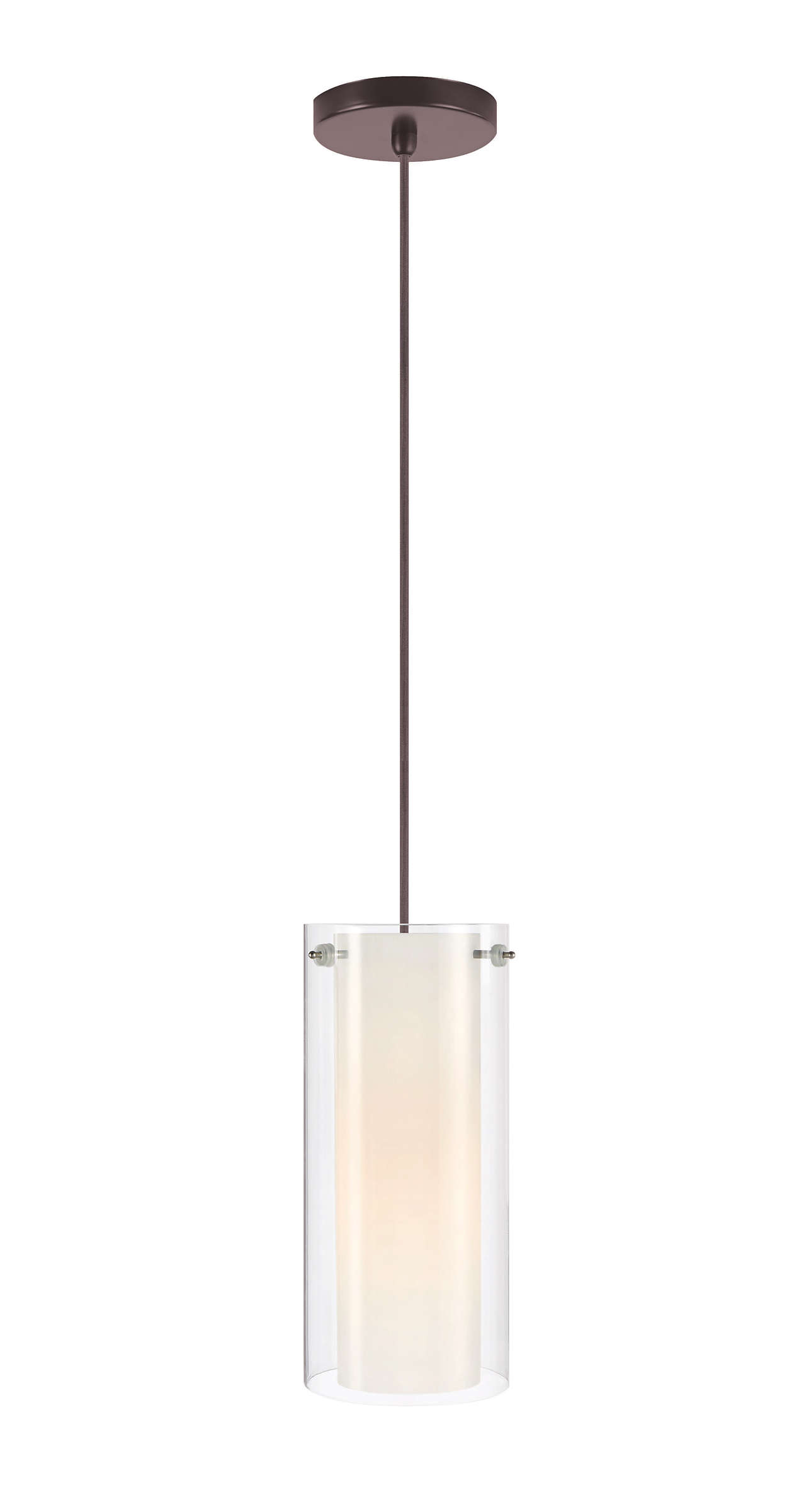 Hula 1-light pendant in Merlot Bronze finish