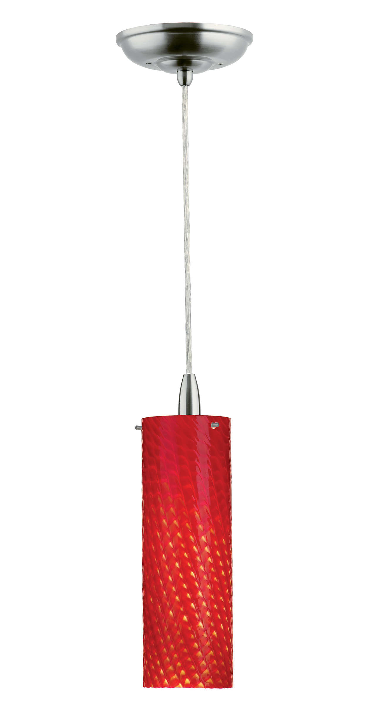 Marta 1-light pendant in Satin Nickel finish