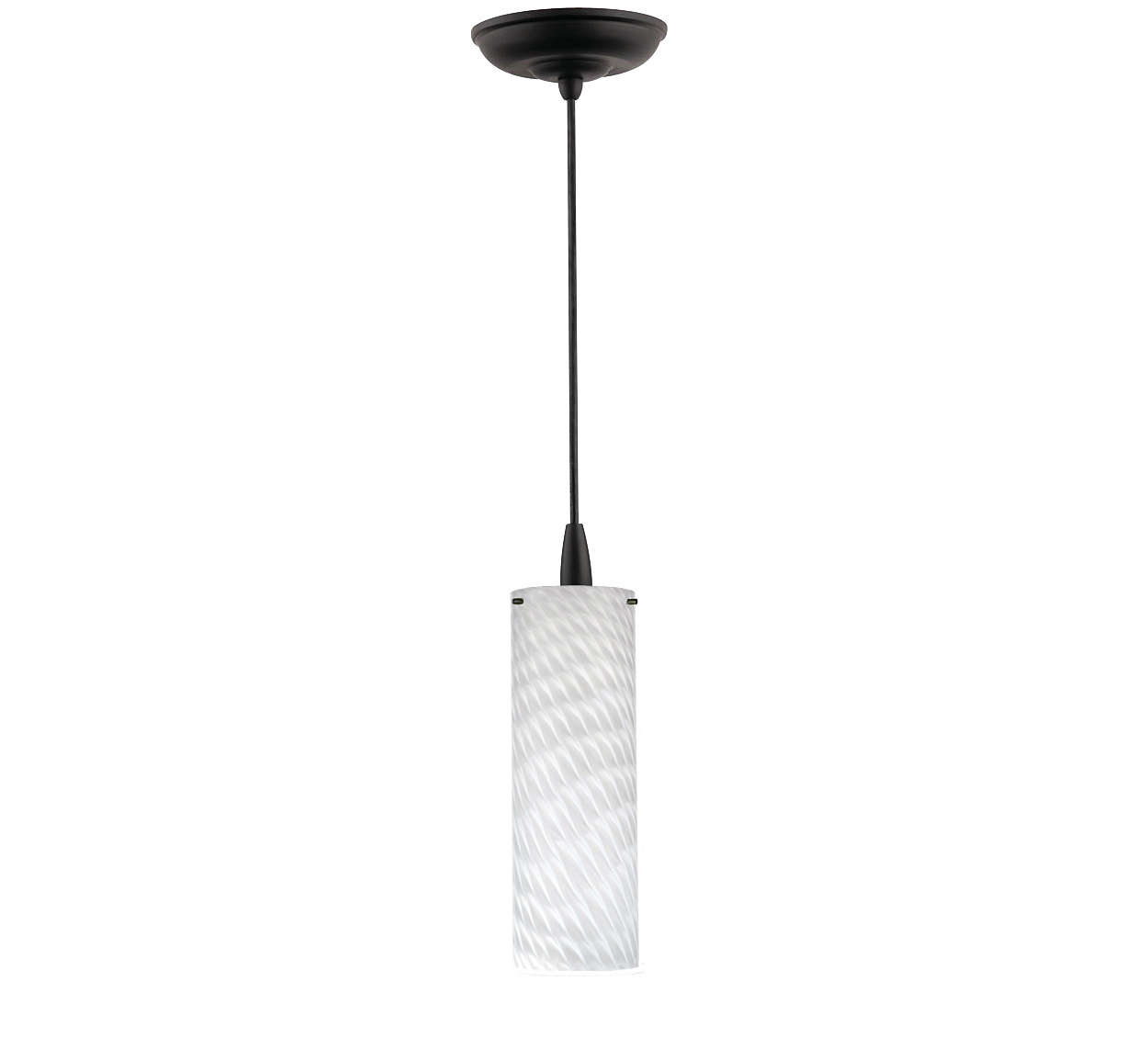 Marta 1-light pendant in Black finish