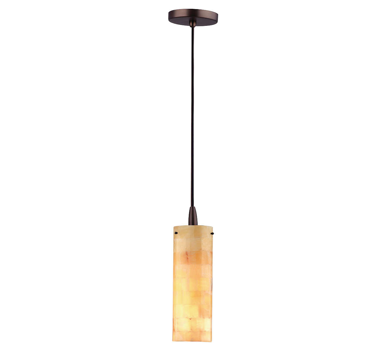 Onyx Mosaic 1-light pendant, Merlot Bronze finish