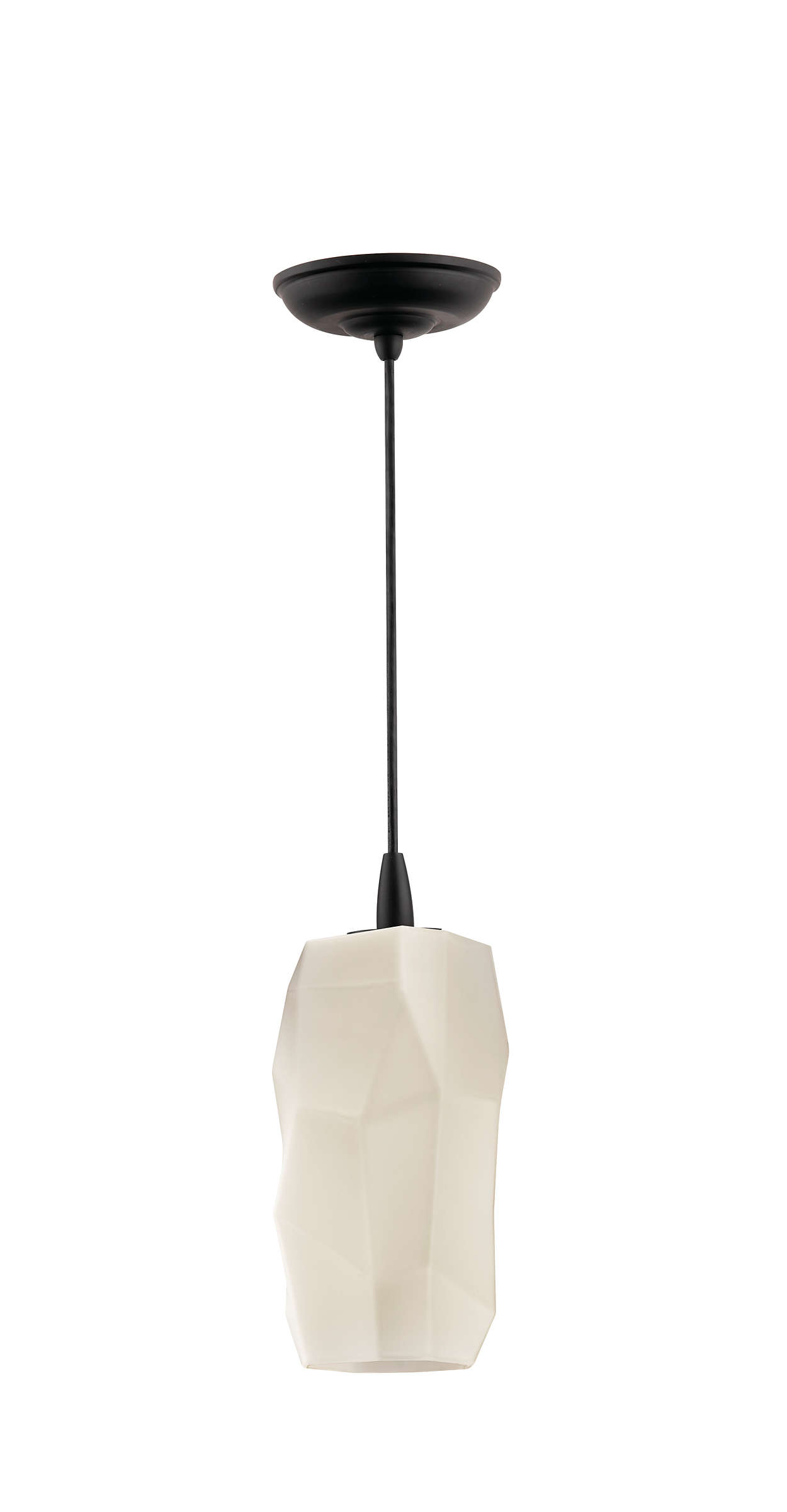 Facet 1-light pendant in Black finish