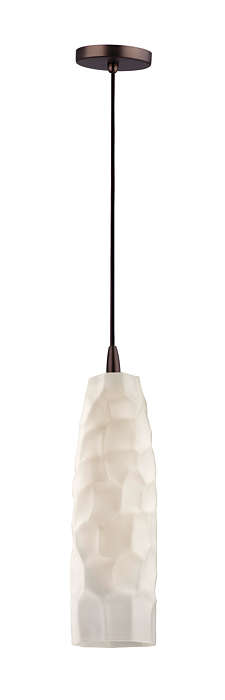Graphite 1-light pendant in Merlot Bronze finish