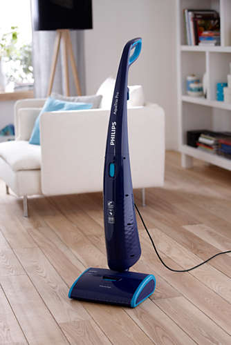 Vacuums, mops and dries in one go