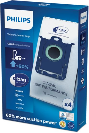 Philips  disposable dust bag s-bag Classic Long Performance FC8021/03