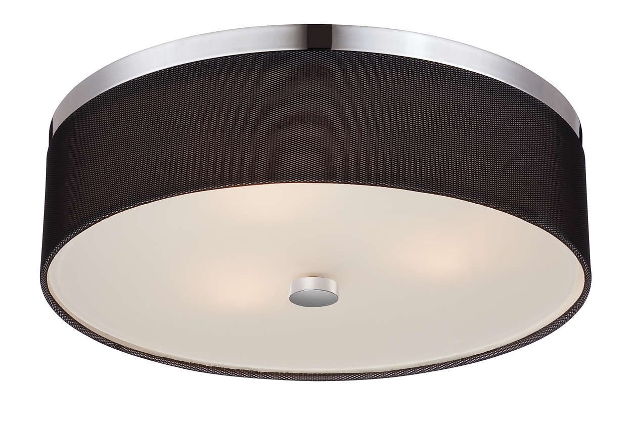 Fishnet 2-light ceiling fixture in Chrome finish