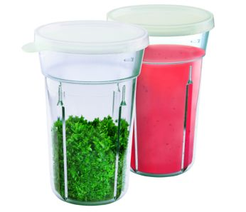 2 beakers with lid