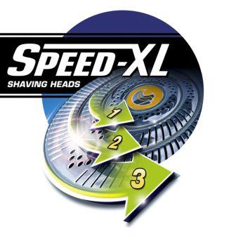 Capetele de bărbierire Speed-XL pentru un bărbierit rapid şi precis