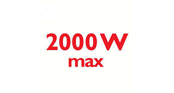 2000 Watt enables constant high steam output