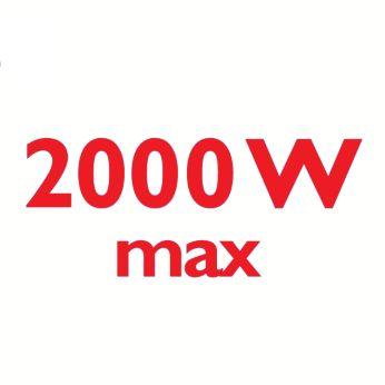 Мощность 2000Вт обеспечивает постоянную подачу пара