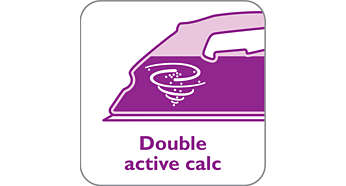Double Active Calc System prevents scale build-up