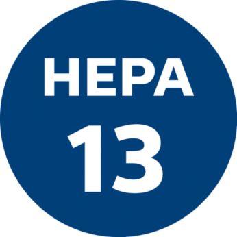 Uszczelnienie HEPA AirSeal i zmywalny filtr HEPA 13