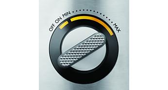 Плавная регулировка скорости на дисплее с подсветкой