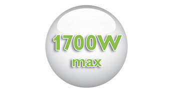 1700 Watt enables constant high steam output