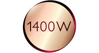 1400 Watt enables constant high steam output