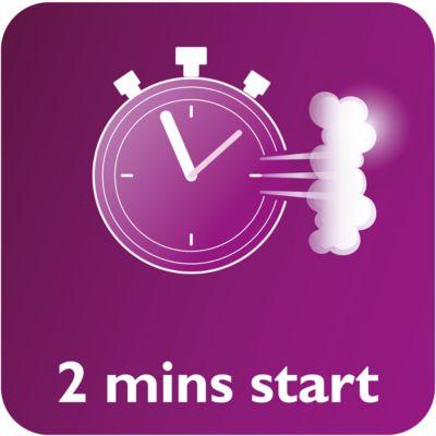 Готовность к работе за 2 минуты