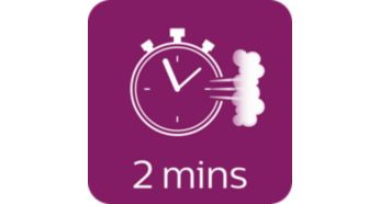 Kesintisiz doldurma özelliğiyle 2 dakikada kullanıma hazır