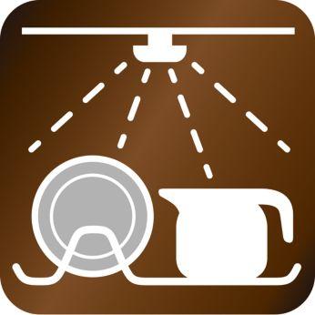Componente lavabile în maşină pt. curăţare uşoară