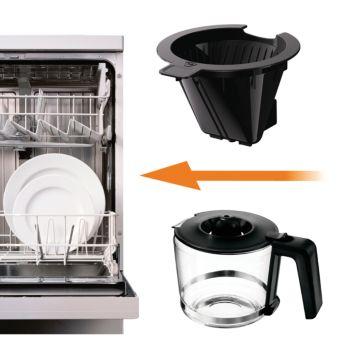Įrenginį lengva plauti, nes jo dalis galima dėti į indaplovę